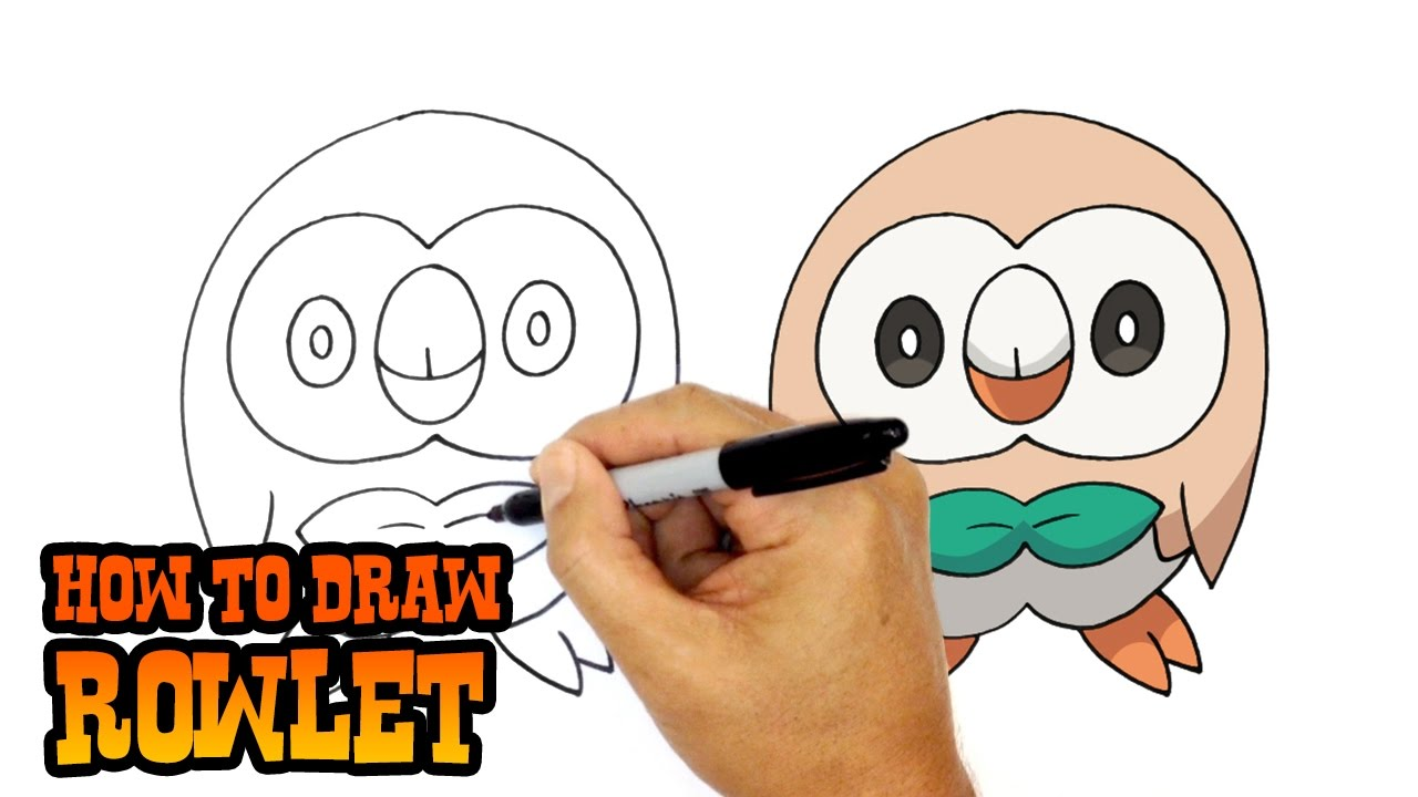 How to draw rowlet pokemon youtube youtube premium thecheapjerseys Image collections