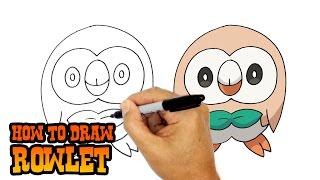 How to Draw Rowlet | Pokemon
