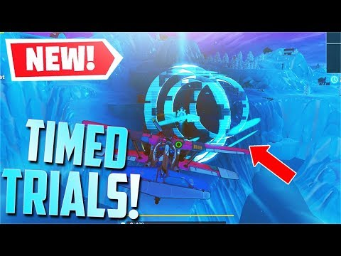 *NEW* Complete 2 Timed Trials in an X-4 Stormwing Plane! [Location] (Fortnite)