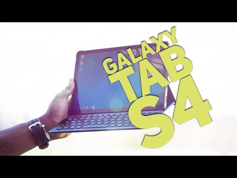 Samsung Galaxy Tab S4 and Book Cover Keyboard Unboxing and First Impressions