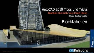 Autocad 2010 Blocktabellen