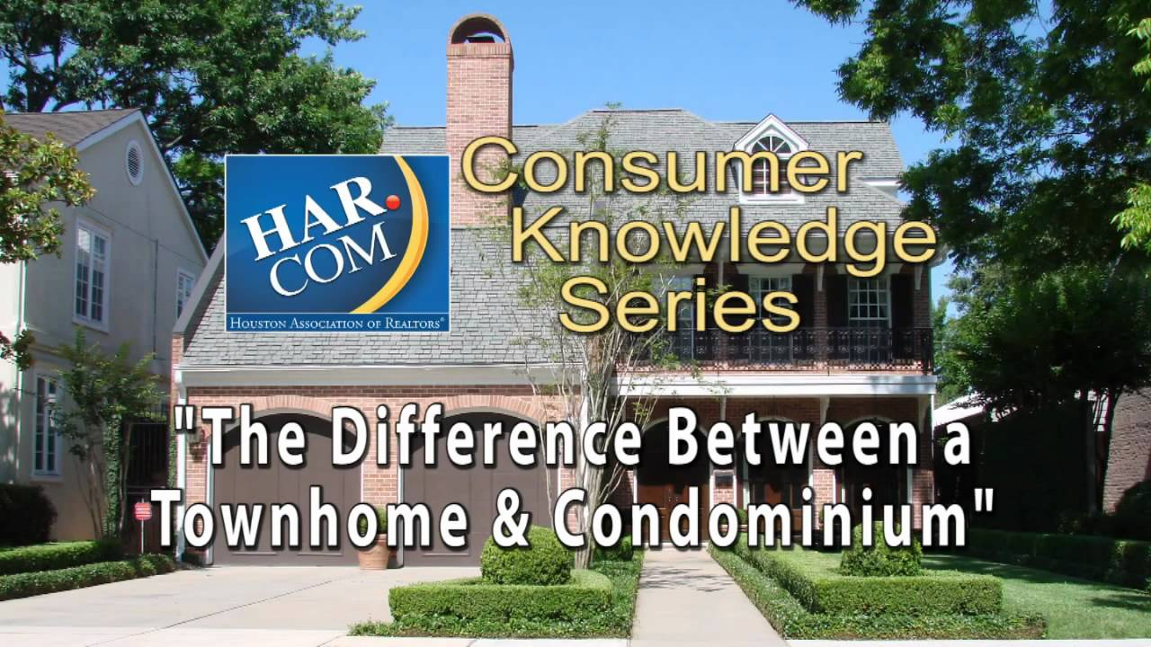 "the difference between a townhome & a condominium"" har's consumer"
