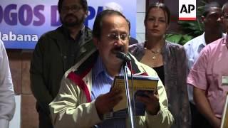 FARC rebels express frustration at agriculture minister