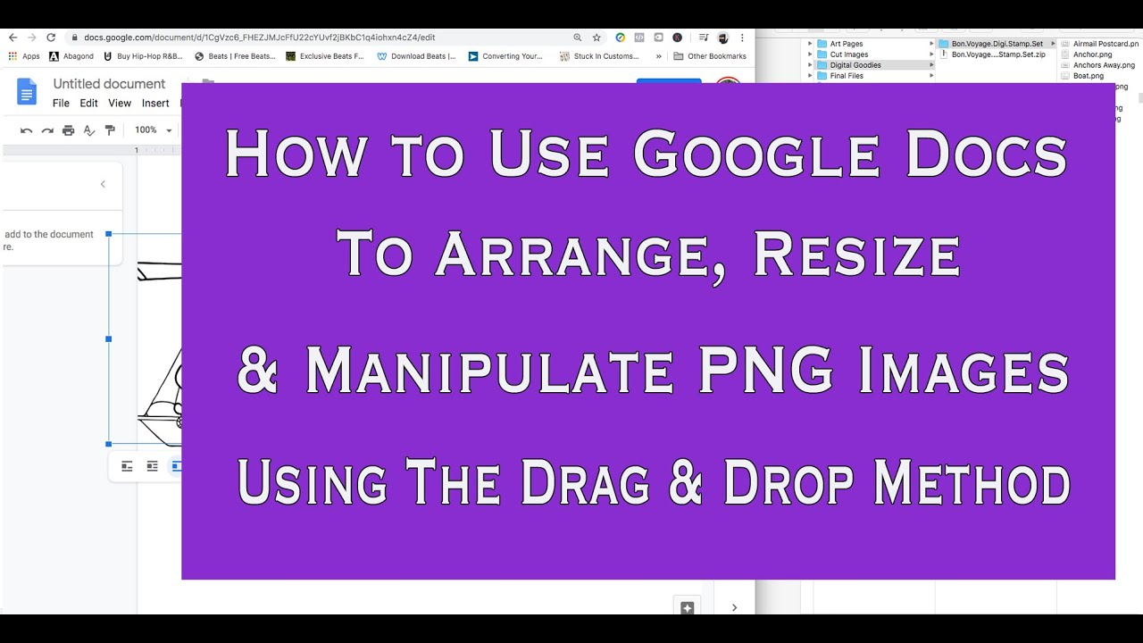 How To Use Png Images With Google Docs