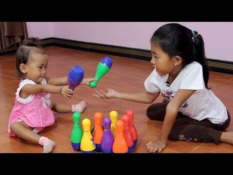Mainan Anak Bola Bowling - Balita Belajar Berhitung dan Warna - Bowling Toy Set for Children & Kids