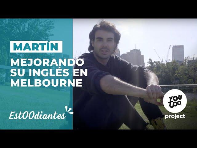 Martín, mejorando su inglés en la escuela Impact de Melbourne