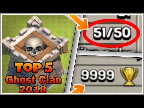TOP 5 STRANGE HORROR GHOST CLANS WHICH ARE UNSTOPPABLE! | 2018 Latest | Clash Of Clans HINDI