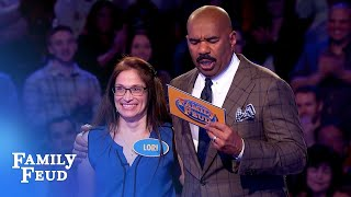 Lori and Miggy SMASH Fast Money! | Family Feud