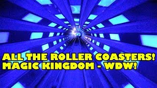 Magic Kingdom Roller Coasters! Onride POV! Space Mountain, Thunder Mountain, MORE! Walt Disney World