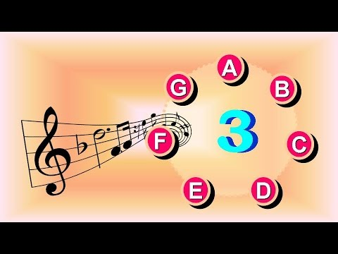 Read Music Notes at 76 BPM - Read Treble 3 Clef Notes: E B F