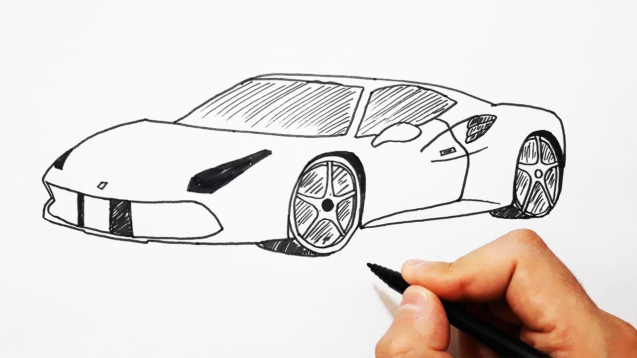 5 Dakikada FERRARİ Nasıl Çizilir / How to Draw a Ferrari Easy - YouTube