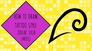 How To Draw Tattoo Style Zodiac Sign (ARIES) - Zodiac Sign Series