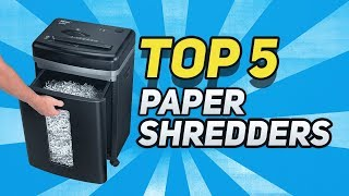 ▶️  Best Paper Shredders In 2019