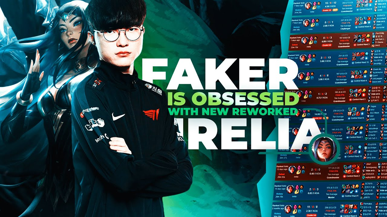 FAKER is OBSESSED with REWORKED IRELIA *200CS at 17 MINUTES??*
