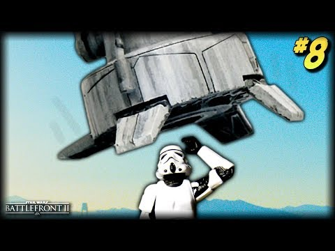 Star Wars Battlefront 2 - Funny Moments #8 (SQUASHED by AT-AT!)