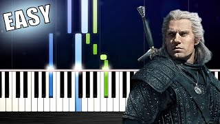 Toss A Coin To Your Witcher - EASY Piano Tutorial by PlutaX