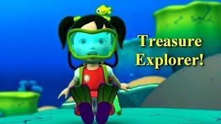 Английский язык для малышей - Мяу-Мяу - В поисках сокровищ (Treasure Explorer ) - учим английский