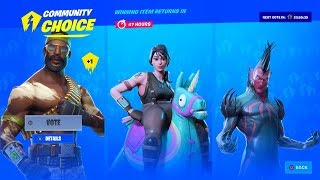 *NEW* FORTNITE ITEM SHOP VOTING SKINS LIVE [September 11] (Fortnite Battle Royale)