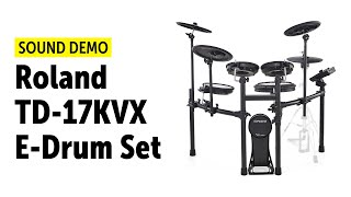 Roland TD-17KVX E-Drum Set - Sound Demo