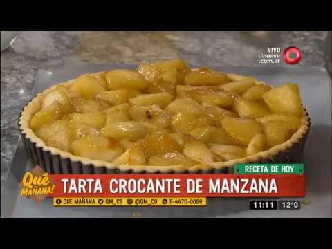 Receta dulce: Tarta crocante de manzana