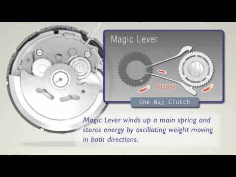 Explaining The Seiko Watch Magic Lever Automatic Winding Mechanism