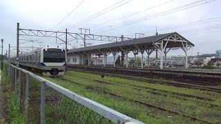 東北本線 白河駅 E531系試運転 引上げ線から留置線へ移動 2017.08.18