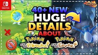 40+ NEW DETAILS About Pokémon Let