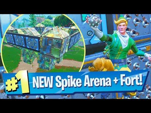 NEW Spiky Stadium + Legendary Port-A-Fortress Grenades Gameplay - Fortnite Battle Royale thumbnail