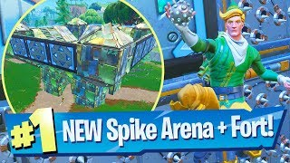 NEW Spiky Stadium + Legendary Port-A-Fortress Grenades Gameplay - Fortnite Battle Royale