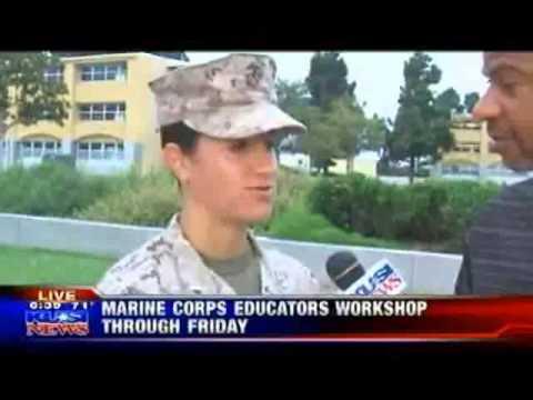 KUSI- Teachers experience Marine Corps through educators workshop