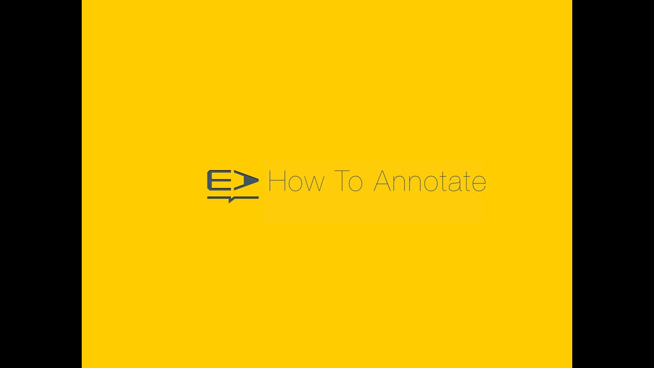 How To Annotate In Easy Annotate