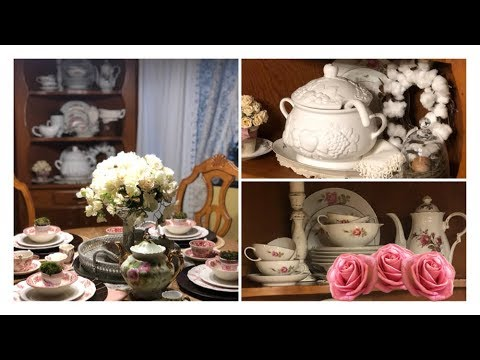 •How To Style A French Country Farmhouse China Cabinet & Hutch•