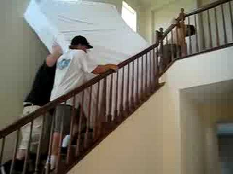 The World S Heaviest Bed And Moving It Up The Stairs Youtube