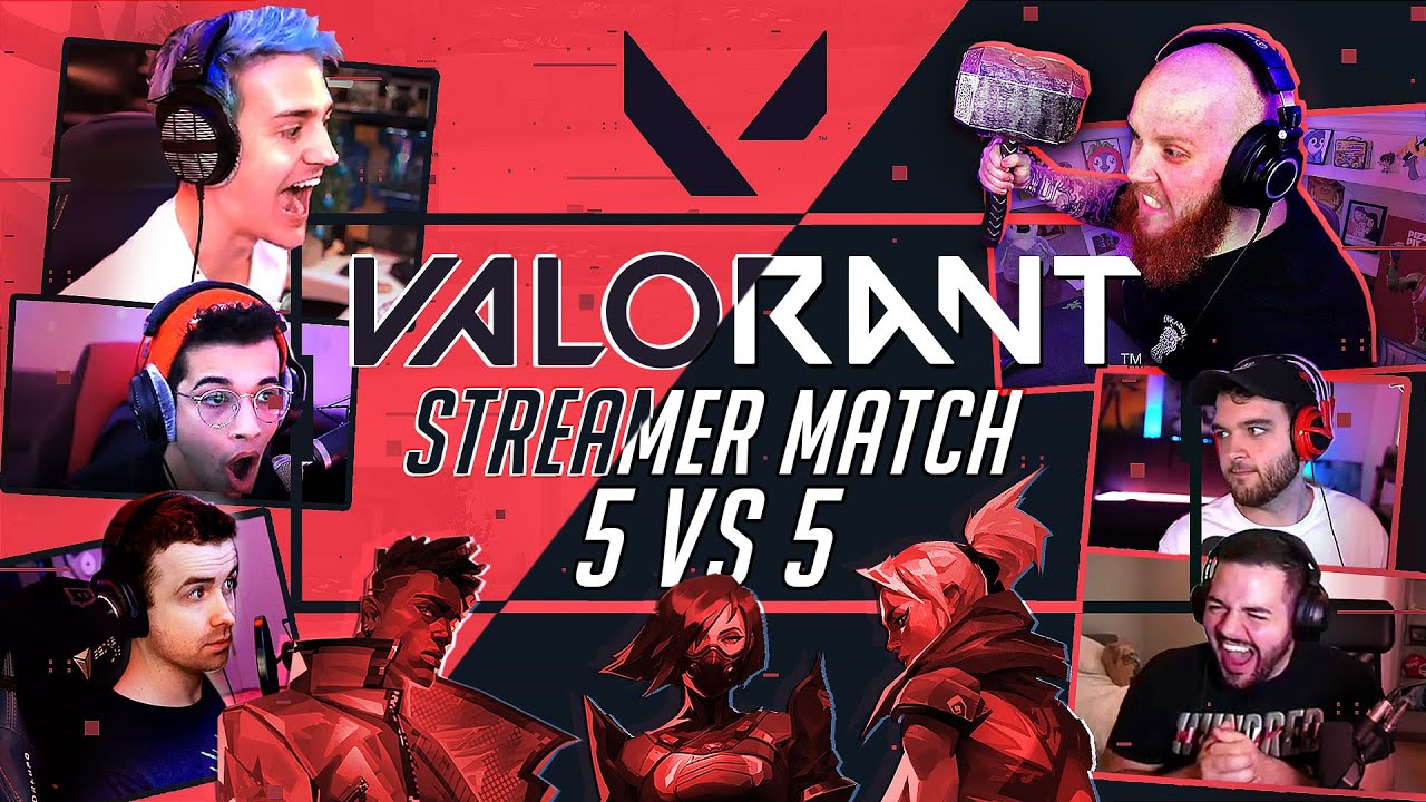 VALORANT GAMEPLAY *FIRST LOOK* 5 VS 5 STREAMER MATCH