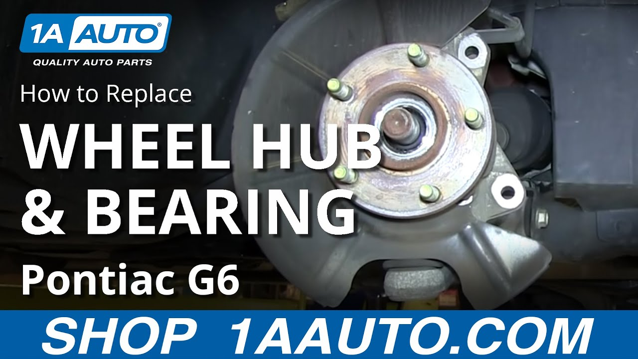 hight resolution of how to install replace front wheel hub bearing pontiac g6 saturn aura