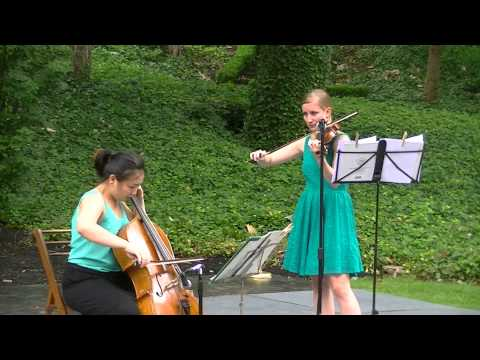 Bartok traditional Hungarian folksong on violin and cello