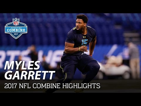 Myles Garrett (Texas A&M, DL) | 2017 NFL Combine Highlights