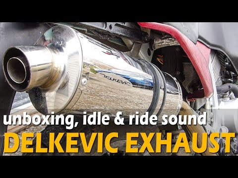 DELKEVIC EXHAUST UNBOXING  - Sound With & Without Baffle, Idle & Rev