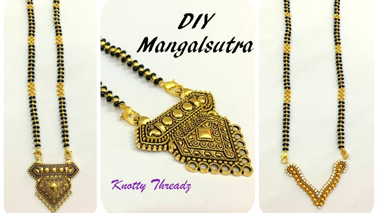 Bridal jewelry make your own mangalsutra interchangeable bridal jewelry make your own mangalsutra interchangeable pendants design diy knotty threadz aloadofball Images