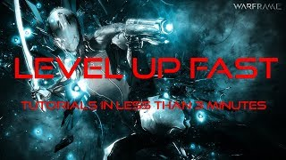 How to level up fast in Warframe
