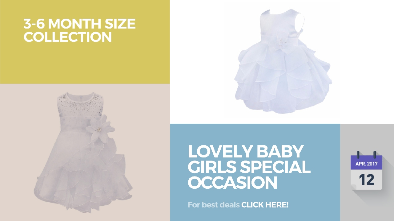 cb9347260 Lovely Baby Girls Special Occasion 3-6 Month Size Collection - YouTube