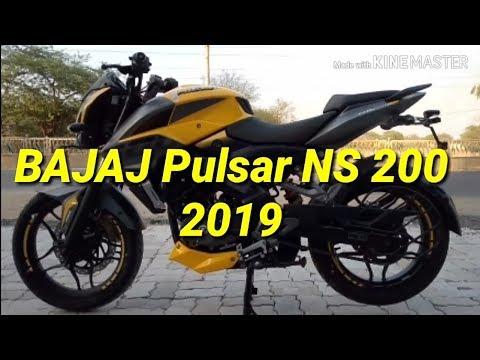 New Bajaj pulsar 200 ns grey yellow ABS 2019