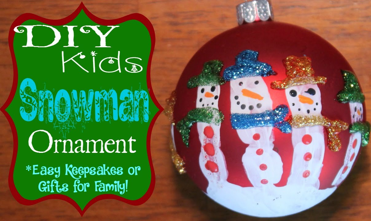 Diy Handprint Snowman Ornament Super Easy And A Great Keepsake Gift Xmas Crafts Diy Snowman Ornaments Snowman Ornaments