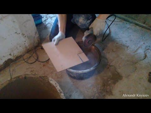 Как вырезать фрагмент плитки болгаркой без сколов?