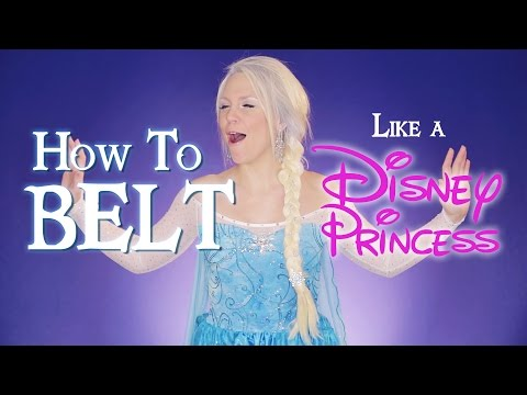 How to Belt Like a Disney Princess (How to Sing the Evolution of the Disney Princess) Evynne Hollens