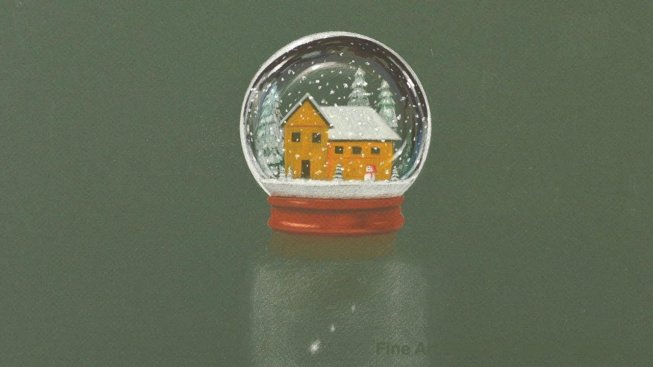 c mo dibujar una bola de cristal navide a esfera con