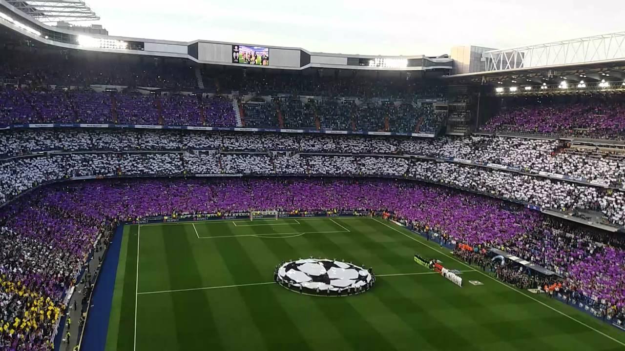Real Madrid 1:0 Manchester City   UEFA Champions League anthem   himno   Estadio Santiago ...