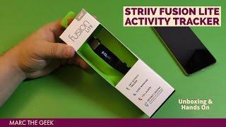 striiv fusion lite activity tracker hands on