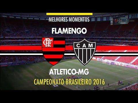 Melhores Momentos - Flamengo 2 x 0 Atlético-MG - Brasileirão - 10/07/2016