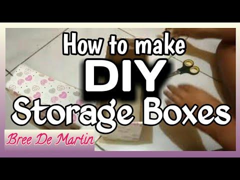 How To Make DIY Cardboard Storage Boxes | Bree De Martin